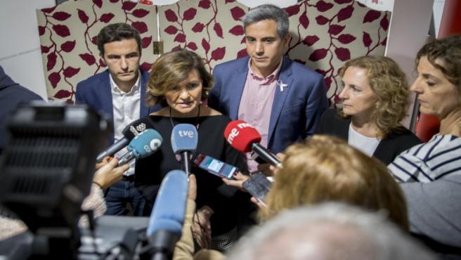 Canutazo de la vicepresidenta, Carmen Calvo, en Santander
