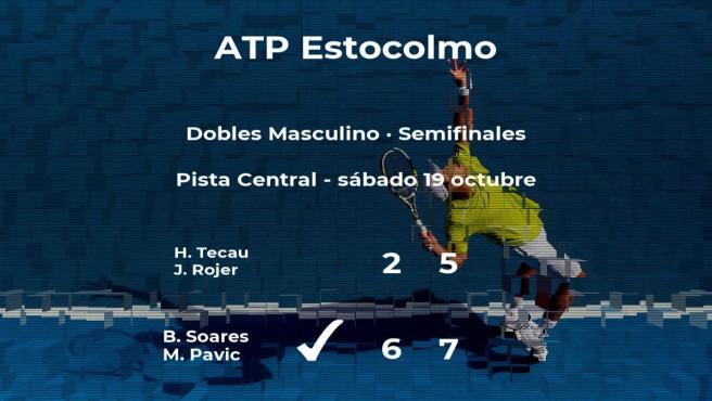 Soares y Pavic pasan a la siguiente fase del torneo ATP 250 de Estocolmo tras vencer en las semifinales