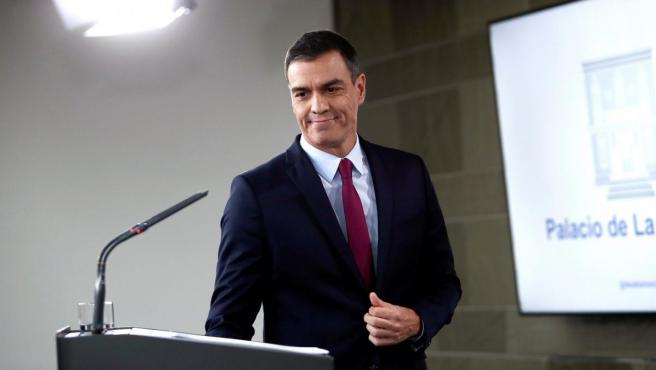 Pedro Sánchez, tras intervenir sobre la crisis catalana.