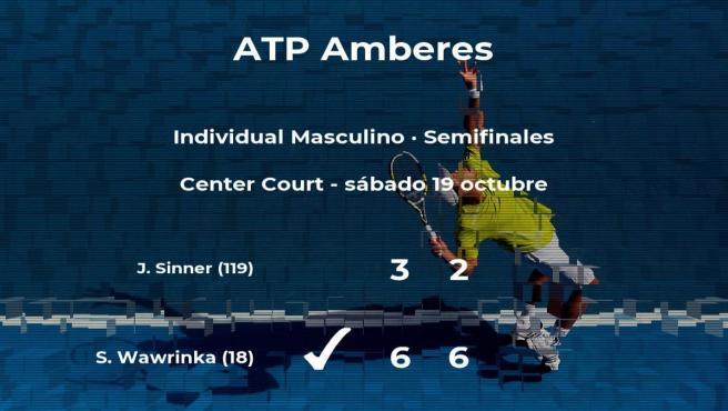 El tenista Stan Wawrinka estará en la final del torneo ATP 250 de Antwerp