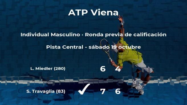 Victoria para el tenista Stefano Travaglia en la ronda previa de calificación