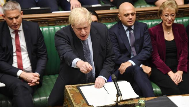 El primer ministro de Reino Unido, Boris Johnson, en el Parlamento.