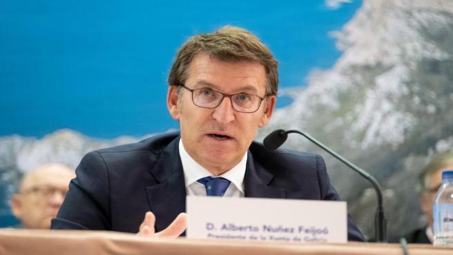 El presidente de la Xunta, Alberto Núñez Feijóo, en Conxemar 2019.