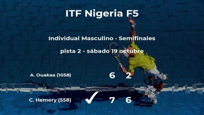 El tenista Calvin Hemery pasa a la próxima fase del torneo de Lagos tras vencer en las semifinales