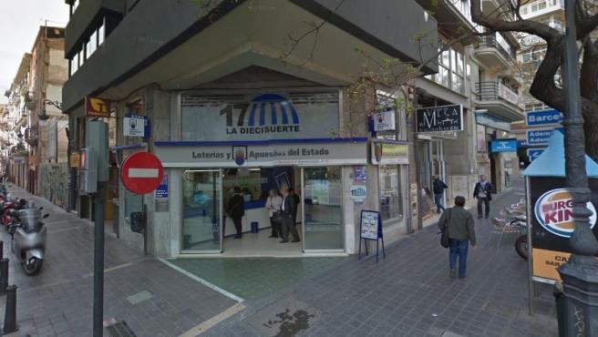 Imagen de la administración de Loterías nº 17 de Valencia.