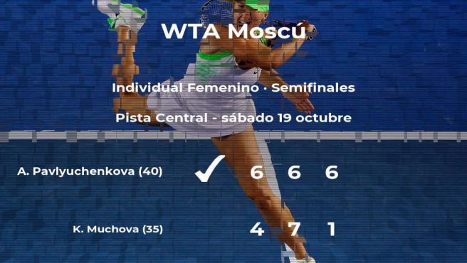 Anastasia Pavlyuchenkova gana en las semifinales del torneo WTA Premier de Moscú