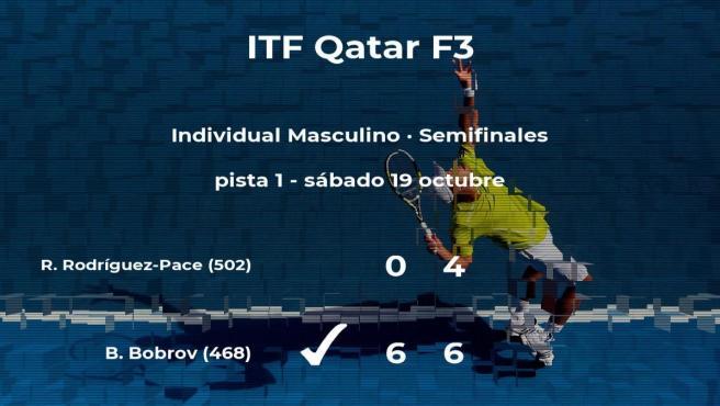 El tenista Bogdan Bobrov logra clasificarse para la final a costa de Ricardo Rodríguez-Pace