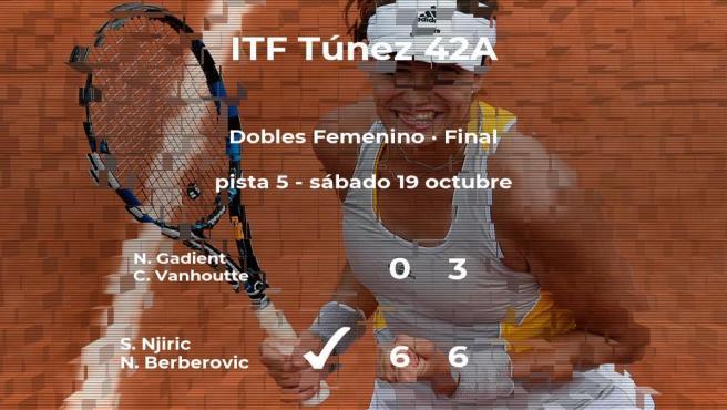 Njiric y Berberovic ganan la final del torneo de Tabarka