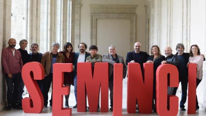 Parte del equipo de 'Intemperie', dirigida por Benito Zambrano, película inaugural de la 64 edición de Seminci.