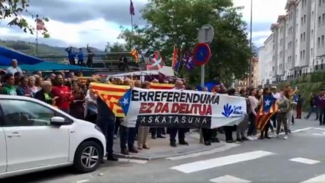 Manifestación independentista en los aledaños de Ipurúa