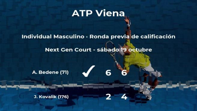 Aljaz Bedene pasa a la siguiente fase del torneo ATP 500 de Viena