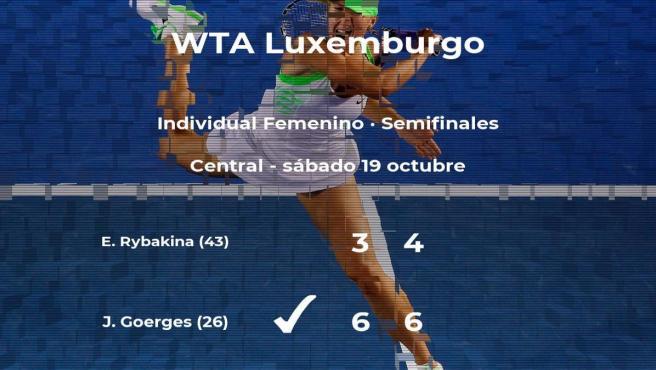 Julia Goerges pasa a la próxima ronda del torneo WTA International de Luxemburgo tras vencer en las semifinales