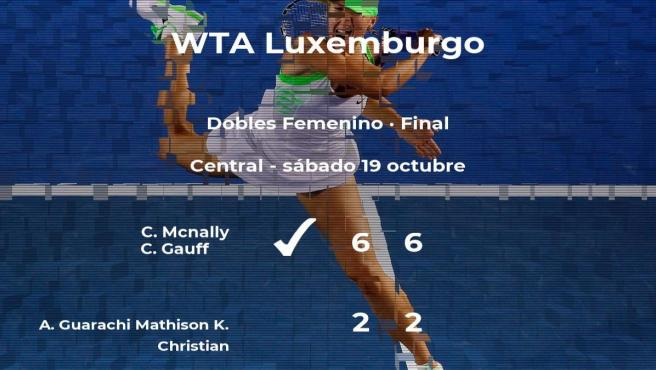 Final del torneo WTA International de Luxemburgo: Mcnally y Gauff derrotan a Guarachi Mathison y Christian