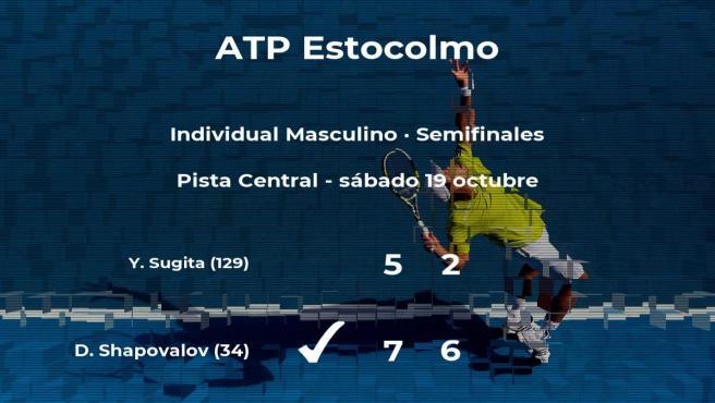 Denis Shapovalov consigue clasificarse para la final del torneo ATP 250 de Estocolmo