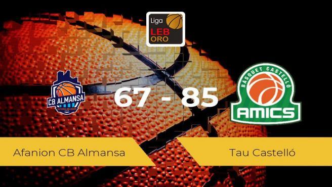 El Tau Castelló se lleva la victoria frente al Afanion CB Almansa por 67-85