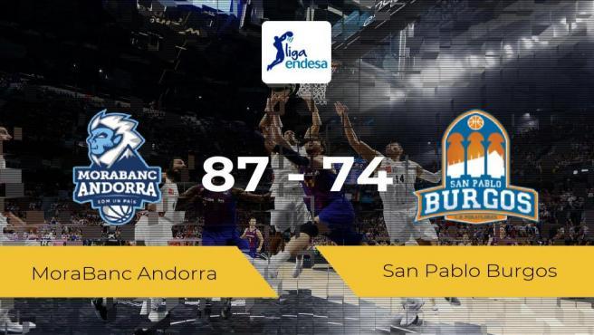 El MoraBanc Andorra vence al San Pablo Burgos (87-74)