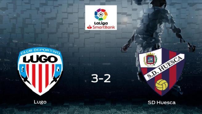 El Lugo se hace fuerte en casa y gana al SD Huesca