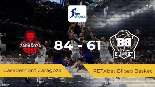 El Casademont Zaragoza se impone por 84-61 frente al RETAbet Bilbao Basket
