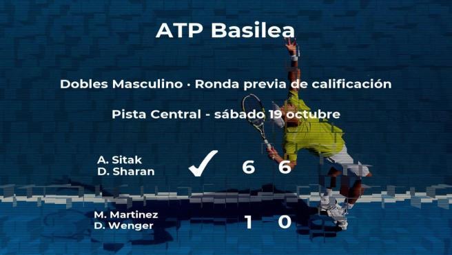 El tenista vencen al tenista en la ronda previa de calificación