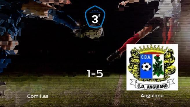 Triunfo del Anguiano tras golear 1-5 en el estadio del CD Comillas