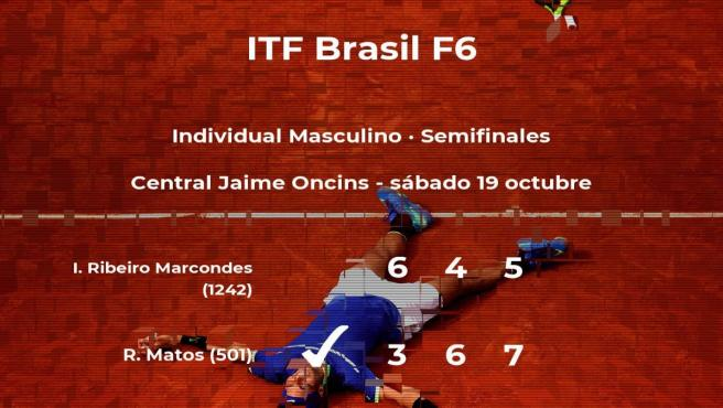 El tenista Rafael Matos, clasificado para la final del torneo de Sao Paulo