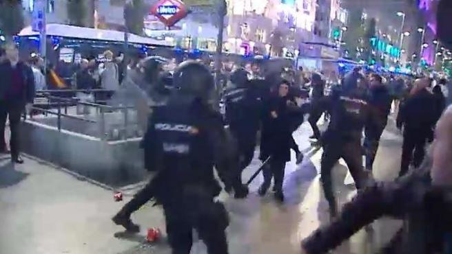 Cargas policiales en Madrid.