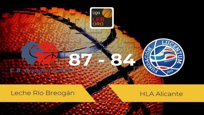 El Leche Río Breogán se lleva la victoria frente al HLA Alicante por 87-84