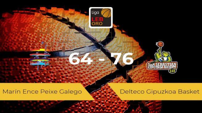 El Delteco Gipuzkoa Basket logra la victoria frente al Marín Ence Peixe Galego por 64-76