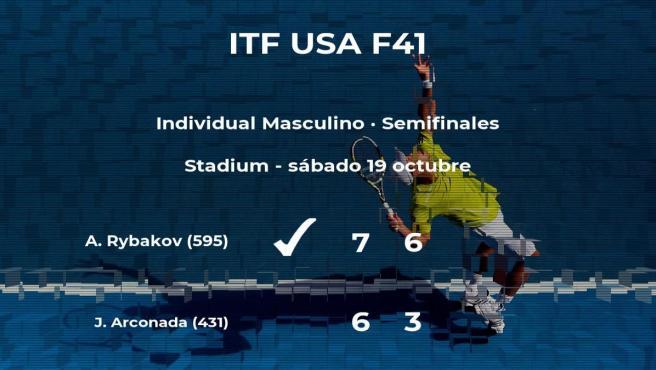 El tenista Alex Rybakov logra clasificarse para la final a costa de Jordi Arconada