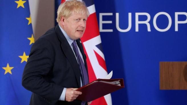 El primer ministro británico, Boris Johnson, esta semana en Bruselas.