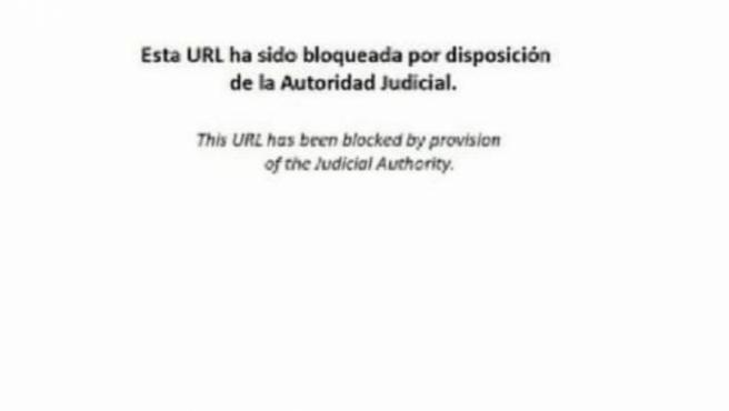 Bloqueo de la 'autoridad judicial' de la web de Tsunami Democràtic.