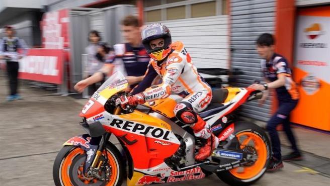 Marc Márquez, en el GP de Japón