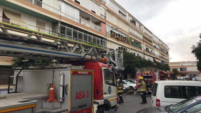 Incendio en un piso de la calle Ciudad de Cullera
