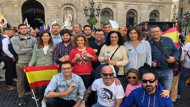Representantes de Ciudadanos Asturias en Barcelona