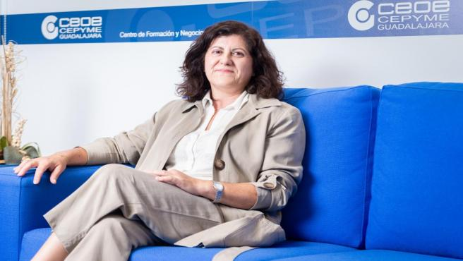 La presidenta de CEOE-Cepyme Guadalajara Marisol García, en entrevista con Europa Press