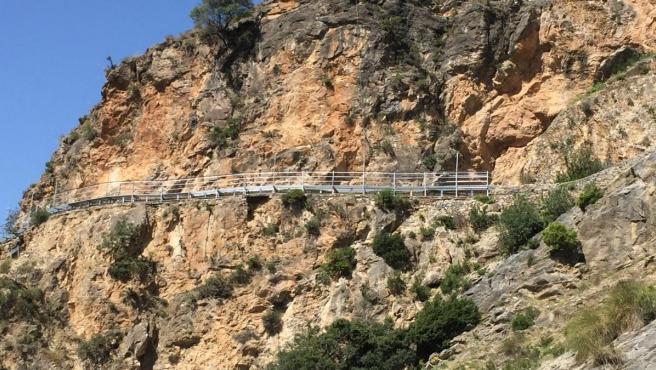 La Gran Senda pasarelas entre Canillas de Aceituno y Sedella