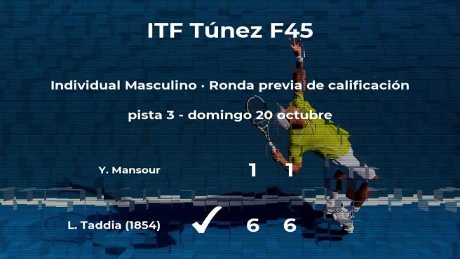 Triunfo de Leonardo Taddia en la ronda previa de calificación