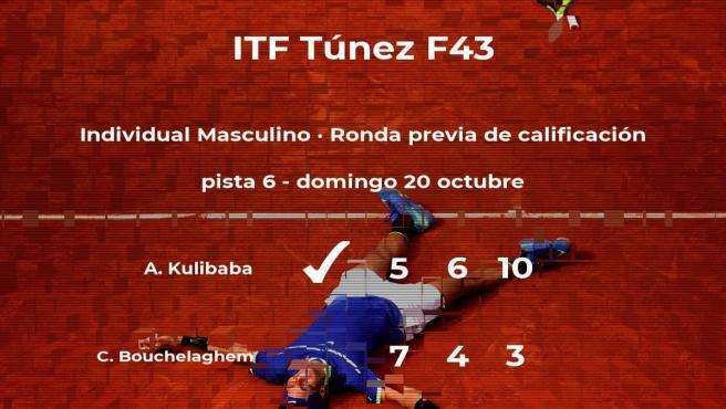 El tenista Artur Kulibaba gana en la ronda previa de calificación del torneo de Tabarka