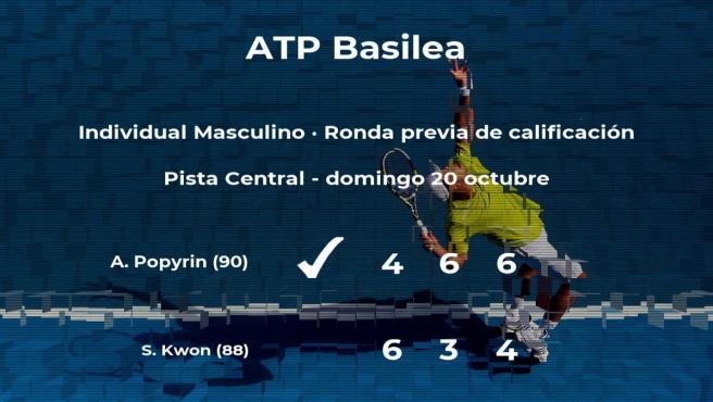 Alexei Popyrin vence al tenista Soon Woo Kwon en la ronda previa de calificación
