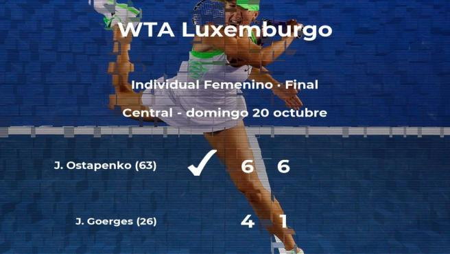 Jelena Ostapenko vence la final del torneo WTA International de Luxemburgo
