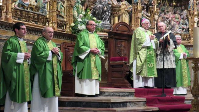 El arzobispo de Toledo, Braulio Rodríguez, en la misa del Domund
