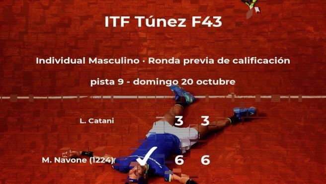Mariano Navone pasa de ronda del torneo de Tabarka