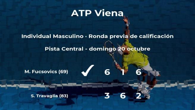 Marton Fucsovics logra vencer en la ronda previa de calificación contra el tenista Stefano Travaglia