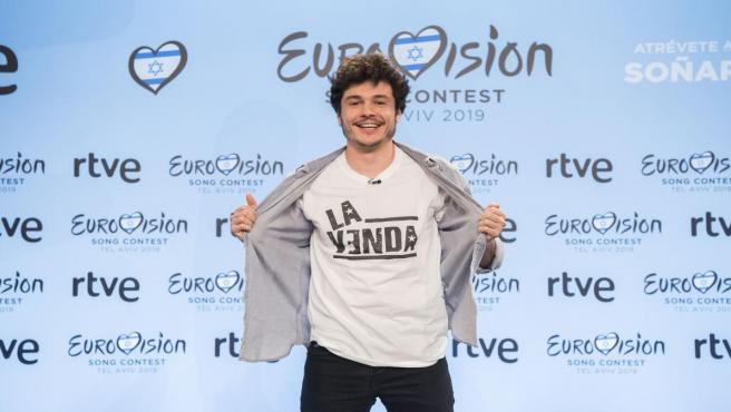 El representant d'Espanya a Eurovisió, Miki Núñez (arxiu).
