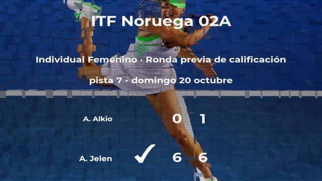 La tenista Aleksandra Julia Jelen logra ganar en la ronda previa de calificación contra Aino Alkio