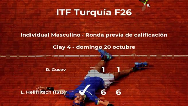 El tenista Lucas Hellfritsch consigue la plaza para la siguiente fase tras vencer en la ronda previa de calificación
