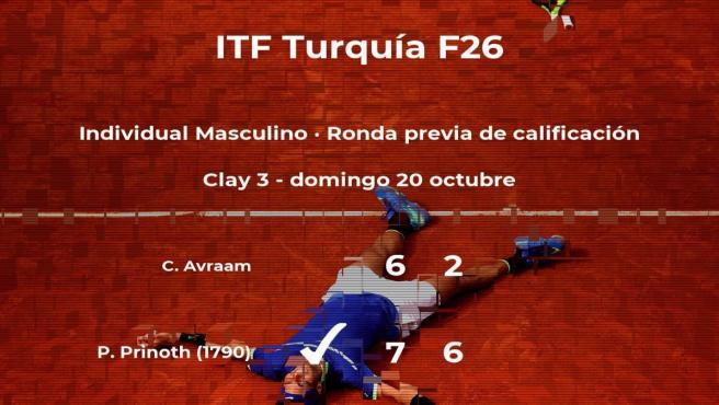 Patric Prinoth pasa de ronda del torneo de Antalya