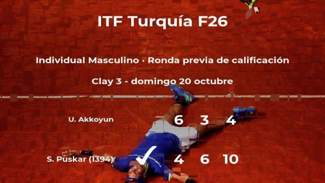El tenista Samuel Puskar consigue la plaza para la siguiente fase tras ganar en la ronda previa de calificación