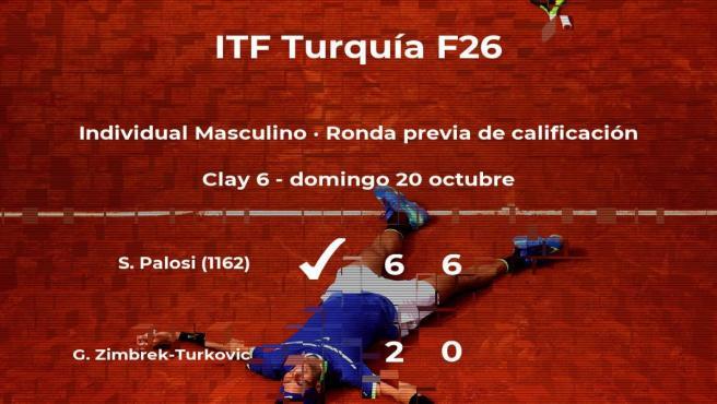 El tenista Stefan Palosi pasa a la siguiente fase del torneo de Antalya