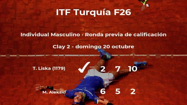 El tenista Tomas Liska vence en la ronda previa de calificación del torneo de Antalya